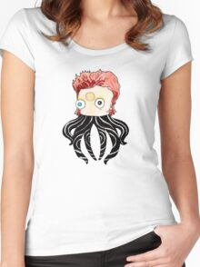 OctoBowie: Inky Stardust! Women's Fitted Scoop T-Shirt