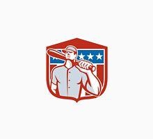 American Baseball Batter Bat Shield Retro Unisex T-Shirt