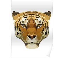 Geometric Tiger Face Poster