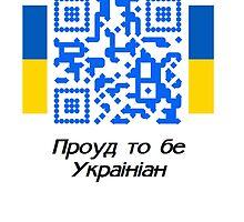 Proud to be Ukrainian - QR Code by Ed Warick