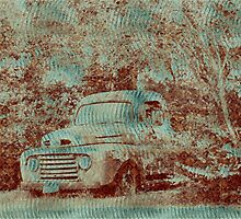 1950 Ford F100 - Textured Rust by LorriCrossno