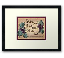 Importance in Life, Italian Framed Print