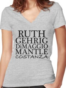 COSTANZA YANKEES Women's Fitted V-Neck T-Shirt