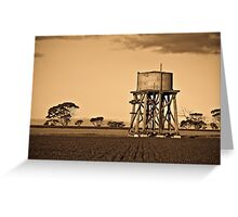 Old Water tank Greeting Card