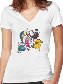 NINJIA CREW Women's Fitted V-Neck T-Shirt