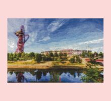 West Ham Olympic Stadium And The Arcelormittal Orbit Art One Piece - Long Sleeve