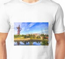 West Ham Olympic Stadium And The Arcelormittal Orbit Art Unisex T-Shirt