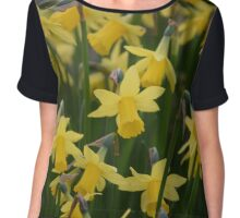 Yellow Daffodils Chiffon Top