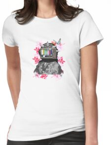 Berberes flowers Womens Fitted T-Shirt