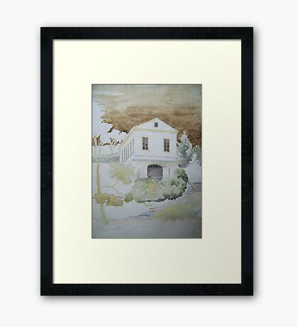 Das Römische Haus in Weimar Framed Print