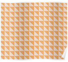 Textured triangles Poster