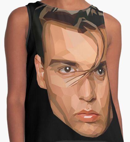 Crybaby Johnny Depp Geometric Graphic Contrast Tank