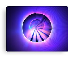 Violet Blue Rays Canvas Print