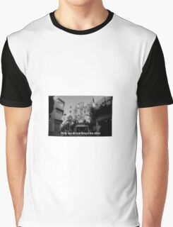 Lomography white and black photo with text Only my dream keeps me alive Graphic T-Shirt