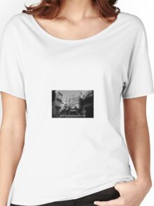 Lomography white and black photo with text Only my dream keeps me alive Women's Relaxed Fit T-Shirt