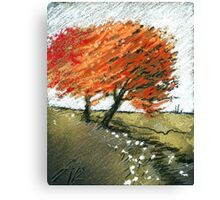 rote begegnung Canvas Print
