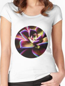 RAINBOW SUCCULENT Women's Fitted Scoop T-Shirt