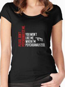 Please Don't Psychoanalyze Me Women's Fitted Scoop T-Shirt