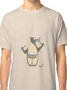 a Drumming Penguin Classic T-Shirt