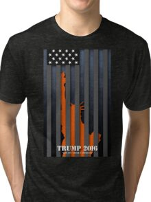 TRUMP - LAW AND ORDER CANDIDATE Tri-blend T-Shirt