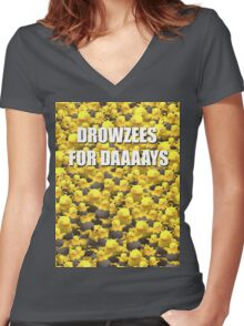 Drowzees for days 2 Women's Fitted V-Neck T-Shirt