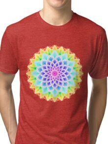 RAINBOW MANDALA Tri-blend T-Shirt