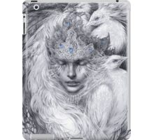 Fairy lady with white peacocks. iPad Case/Skin
