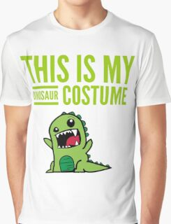 "Funny Halloween Costume ""This Is My Dinosaur ""  Graphic T-Shirt"