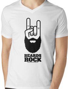 Beards Rock! Mens V-Neck T-Shirt