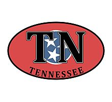 TENNESSEE STATE FLAG EURO OVAL NASHVILLE MEMPHIS GATLINBURG FRANKLIN Photographic Print