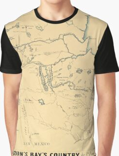 Map Of Hudson Bay 1785 Graphic T-Shirt