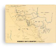 Map Of Hudson Bay 1785 Metal Print