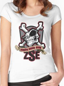 Zombie Squad Elite Badge Women's Fitted Scoop T-Shirt
