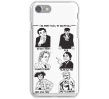 The many faces of Rik Mayall iPhone Case/Skin