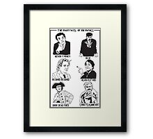 The many faces of Rik Mayall Framed Print
