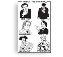 The many faces of Rik Mayall Canvas Print