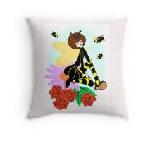 The Bee Fairy  (1619  Views) Throw Pillow