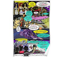 """Code Name: King #2"" Comic Book Page Art - 'No Horse Fartin' in The Caddy' Poster"