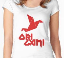 Origami Red Women's Fitted Scoop T-Shirt