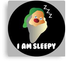 I AM SLEEPY  Canvas Print