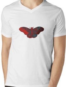 Red flight Mens V-Neck T-Shirt