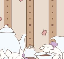 Peach Tea Bunnies - Brown Sticker
