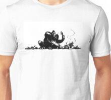 A gorilla eating BBQ Unisex T-Shirt