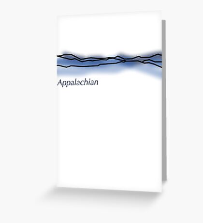 Appalachian Mountain Range Greeting Card