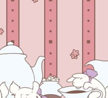 Peach Tea Bunnies - Pink Sticker