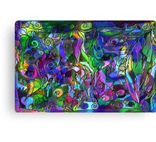 It Was the Very First Day: Colorful Abstract Art Canvas Print
