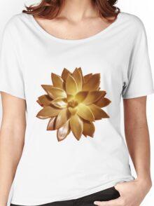 MINI GOLD SUCCULENT MANDALA Women's Relaxed Fit T-Shirt