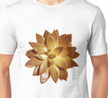MINI GOLD SUCCULENT MANDALA Unisex T-Shirt