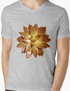 MINI GOLD SUCCULENT MANDALA Mens V-Neck T-Shirt