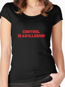 Mr. Robot - Control is an illusion Women's Fitted Scoop T-Shirt